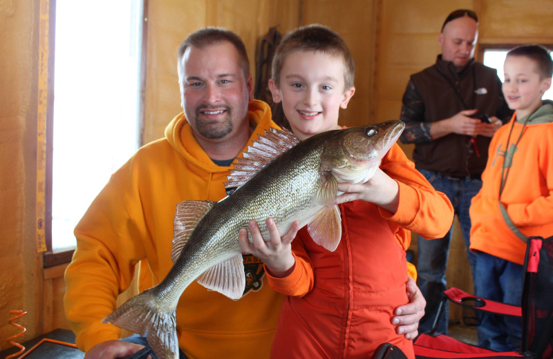 Fishing at River Bend's Resort & Walleye Inn.