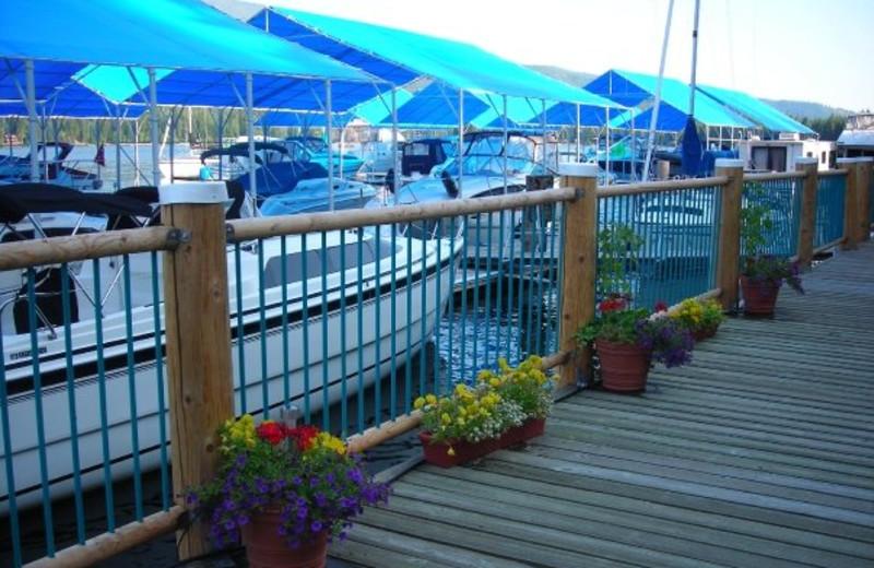 Boats at Blue Diamond Marina & Resort.