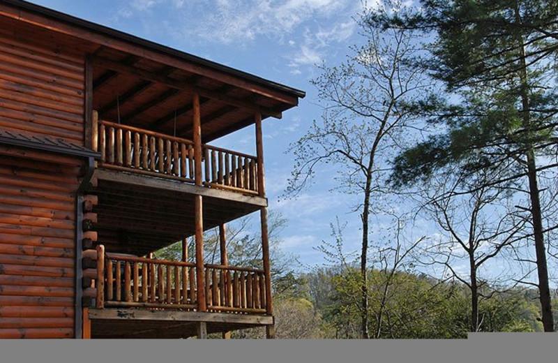 Cabin exterior at Fireside Chalets & Cabin Rentals.