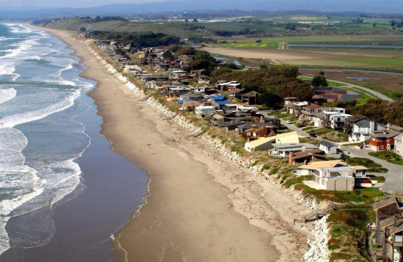 Aerial view of Pajaro Dunes Resort.