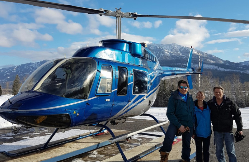 Helicopter rides at Red Tree Lodge.