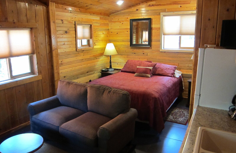 Cabin interior at Amberwood.