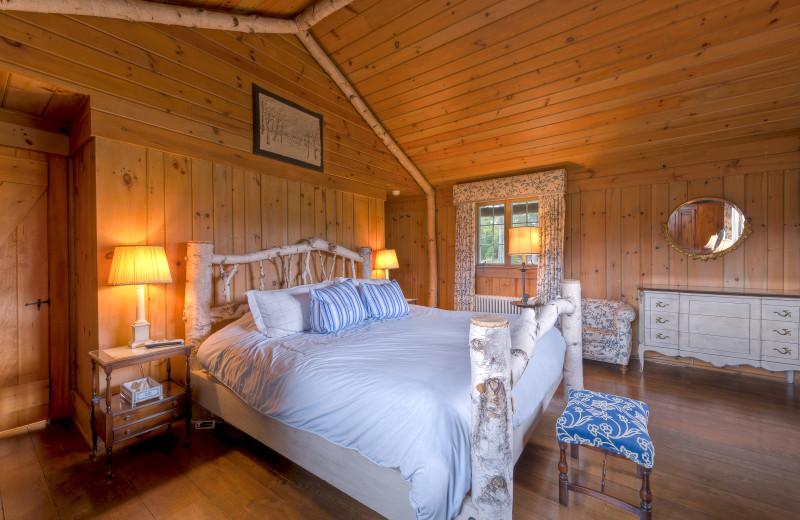 Spacious bedroom at Lake Placid Vacation Homes.