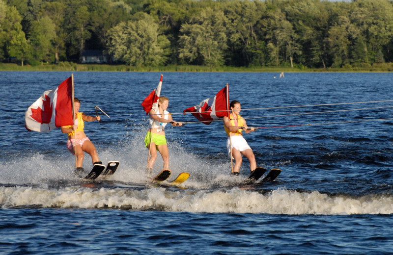 Water skiing at Bayview Wildwood Resort.
