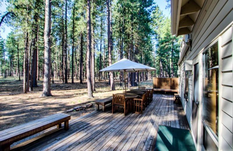 Vacation rental porch at Vacasa Rentals Eagle Crest.