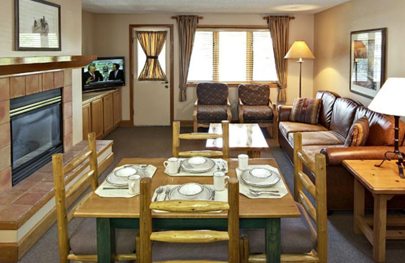 Suite interior at Jackson Hole Lodge.