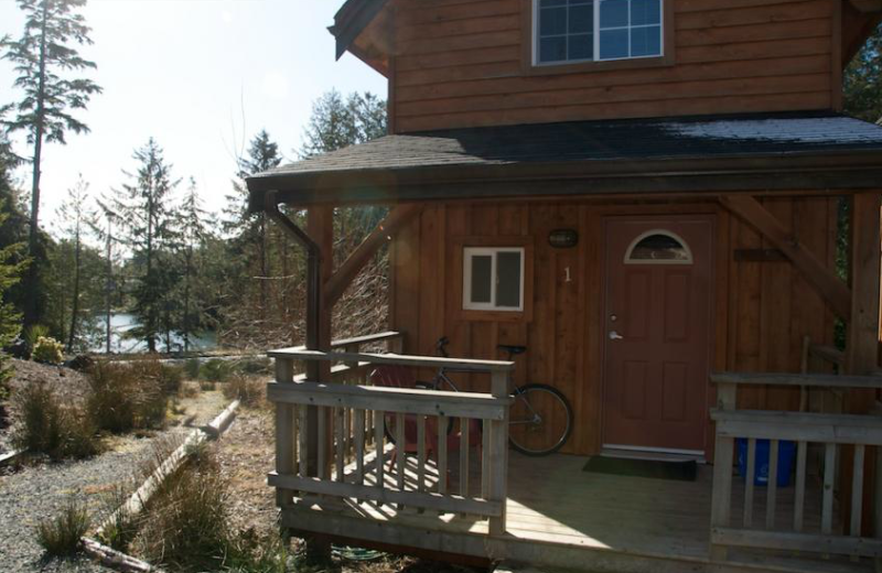 Exterior view of The Cabins at Terrace Beach.