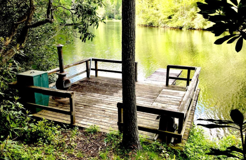 Rental dock at Chambers Realty & Vacation Rentals.