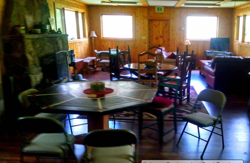 Living area at Lost Creek Guest Ranch.