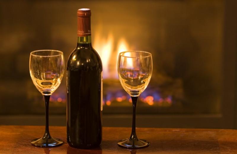 Wine And Glasses at JP Ridgeland Cabin Rentals