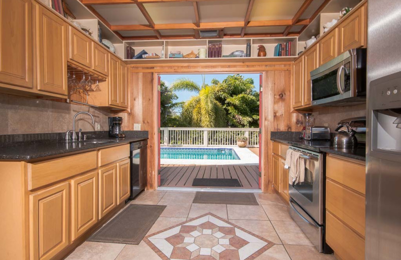 Rental kitchen at Florida Keys Vacation Rentals.