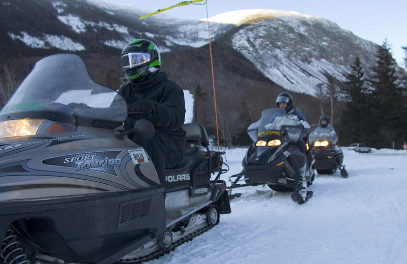 Snowmobiling at Royalty Inn.