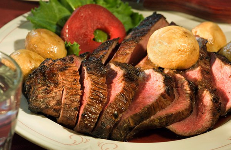 Delicious dinners at Aspen Ridge Resort.