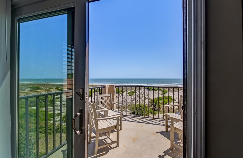 Rental balcony at Amelia Rentals and Management Services.