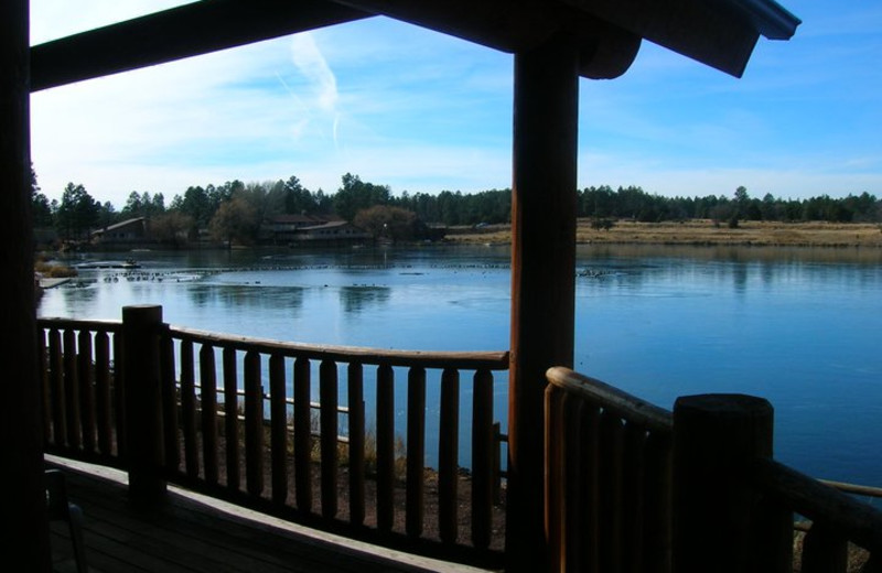 Cabin deck at Lake Of The Woods.