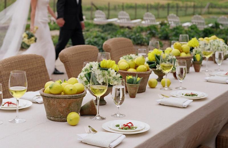 Wedding reception at The Carneros Inn.
