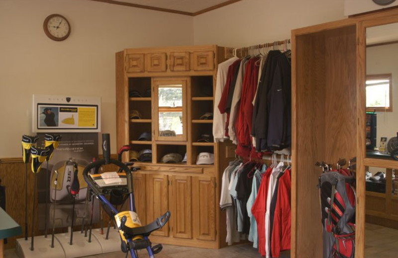 Golf merchandise available at Thunderhart Golf Course.