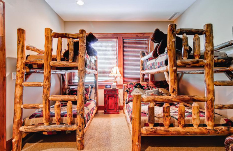 Rental bunk beds at Accommodations Vail Beaver Creek.