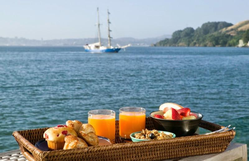 Breakfast at The Inn Above Tide.