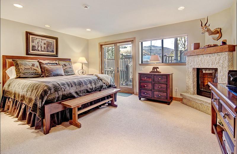 Rental bedroom at Vail Rentals by Owner.