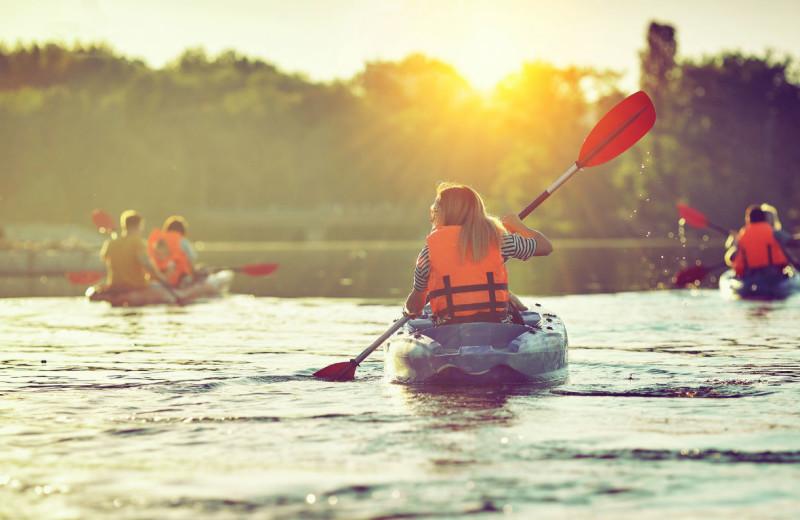 Kayaking at Great Blue Resorts.