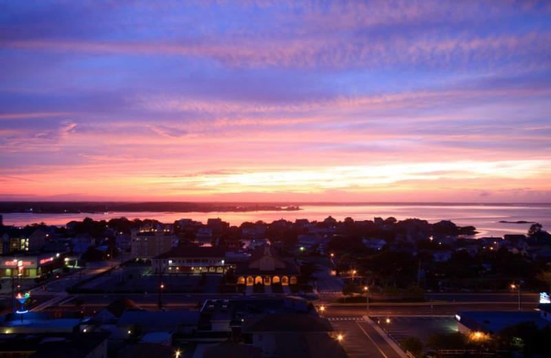 Sunset in Ocean City at Hilton Suites Ocean City Oceanfront.