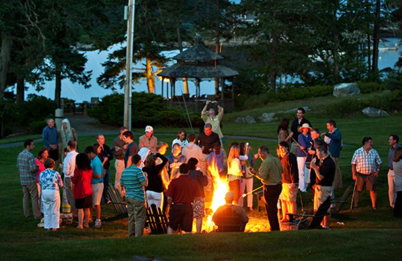 Bonfire at Newagen Seaside Inn.