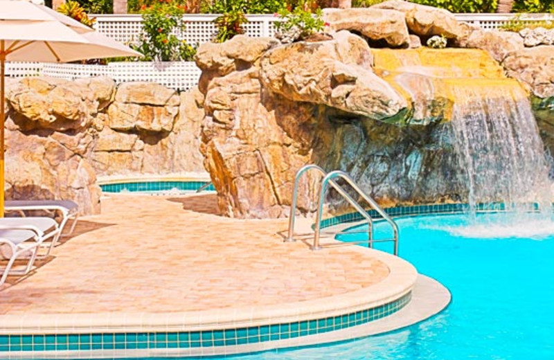 Waterfall pool at Sheraton Suites Key West.