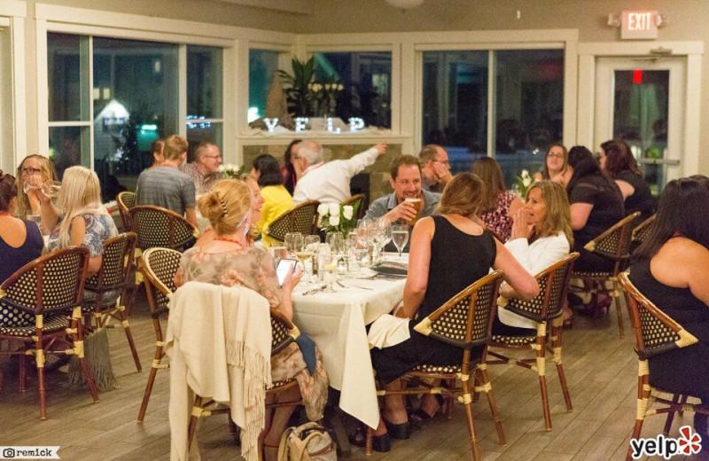 Dining at The Nonantum Resort.