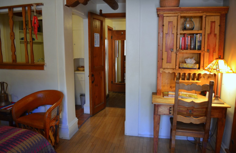 Guest room at Pueblo Bonito.