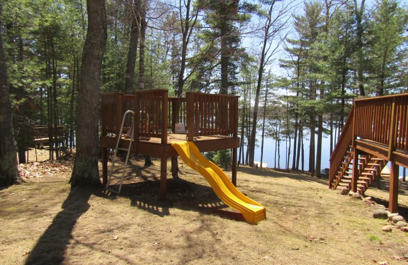 Playground at Northwoods Vacation Rentals.