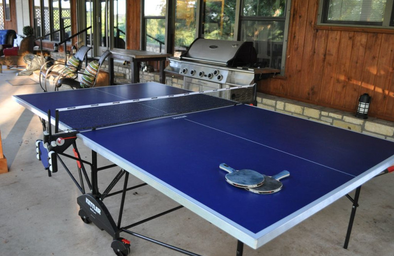 Rental ping pong table at Lake LBJ Legacy Lakehouse.