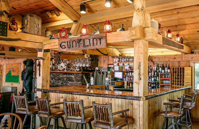 Bar at Gunflint Lodge.