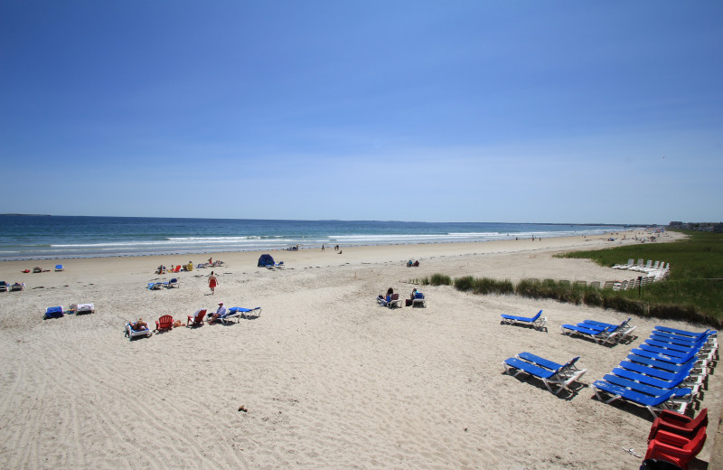 Beach at Ocean Walk Hotel.