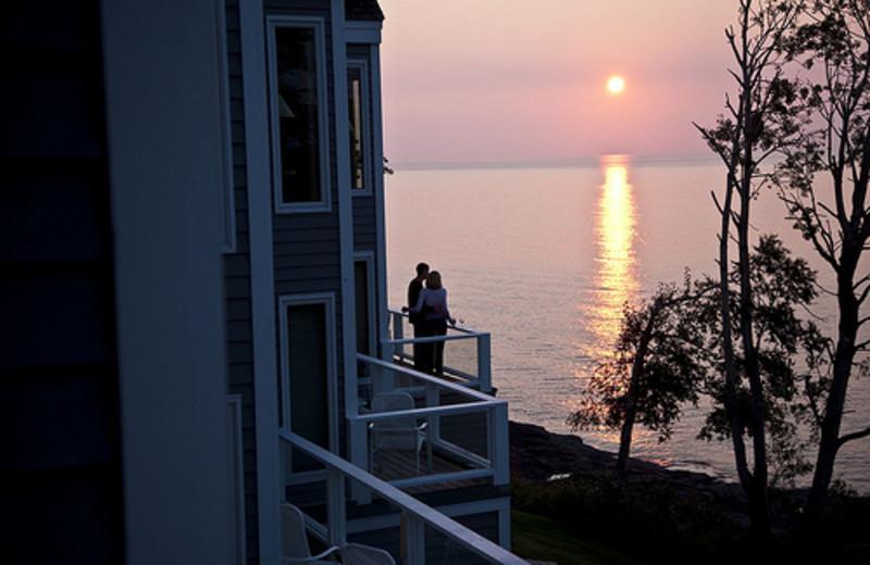 Balcony view at Bluefin Bay on Lake Superior.
