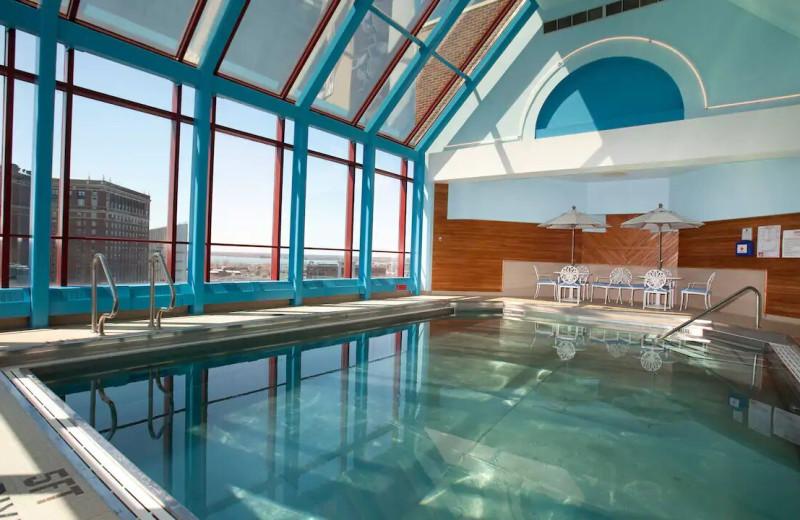 Indoor pool at Hyatt Regency Buffalo/Hotel and Conference Center.