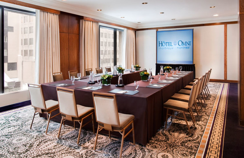 Meeting room at Hotel Omni Mont-Royal.