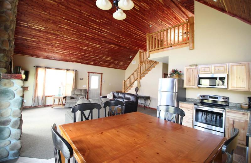 Cottage dining area at Riverwood Resort.