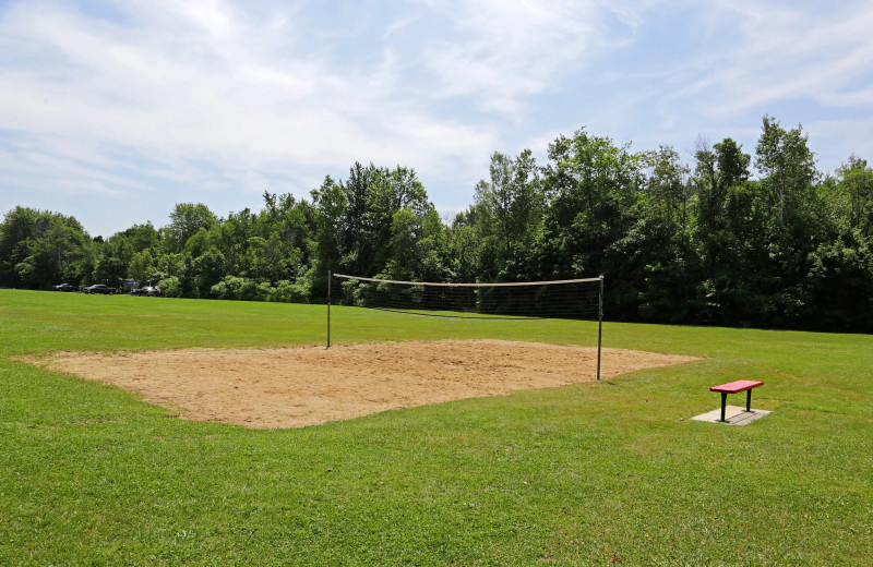 Volleyball court at Yogi Bear's Jellystone Park™ Camp-Resort Glen Ellis.
