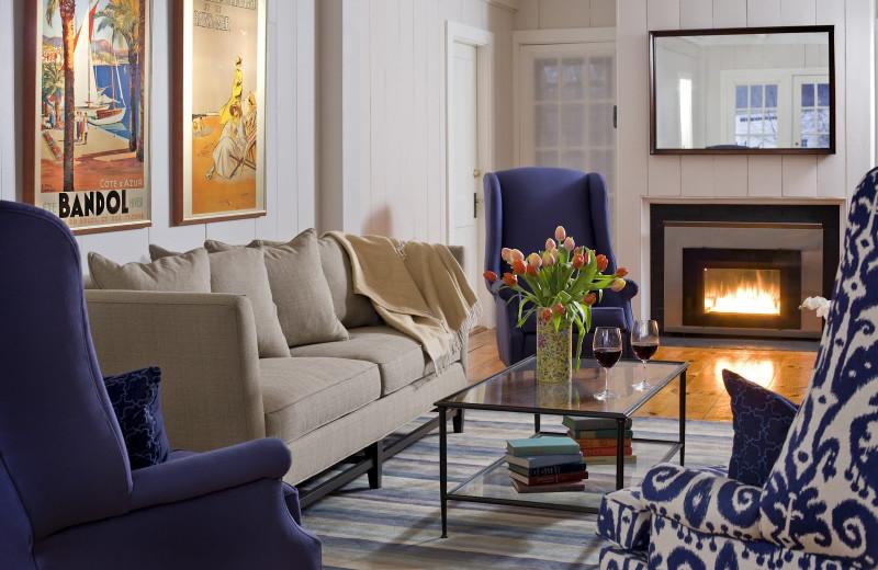 Living room at The Inn at English Meadows.