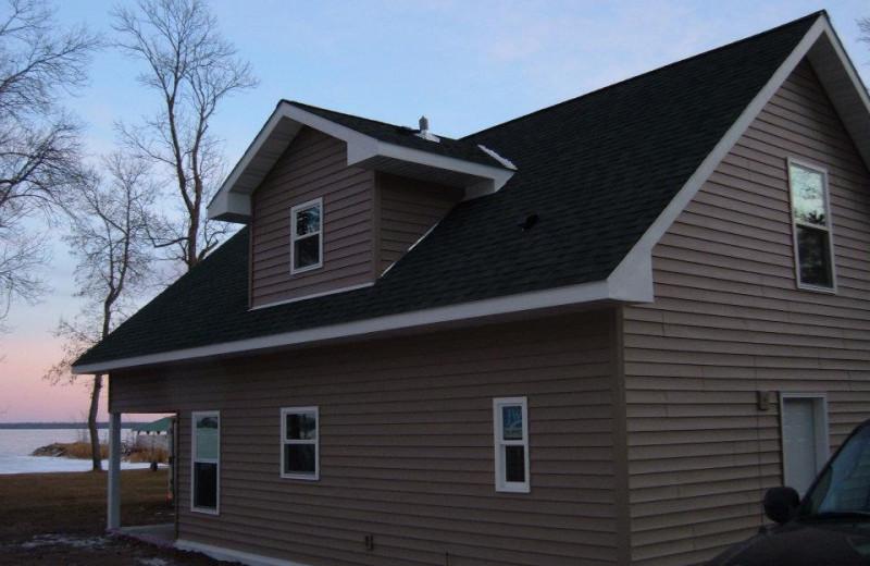 Cabin exterior at Birch Villa Resort.