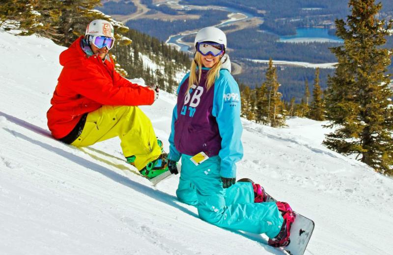 Snowboarding at Mount Robson Inn.