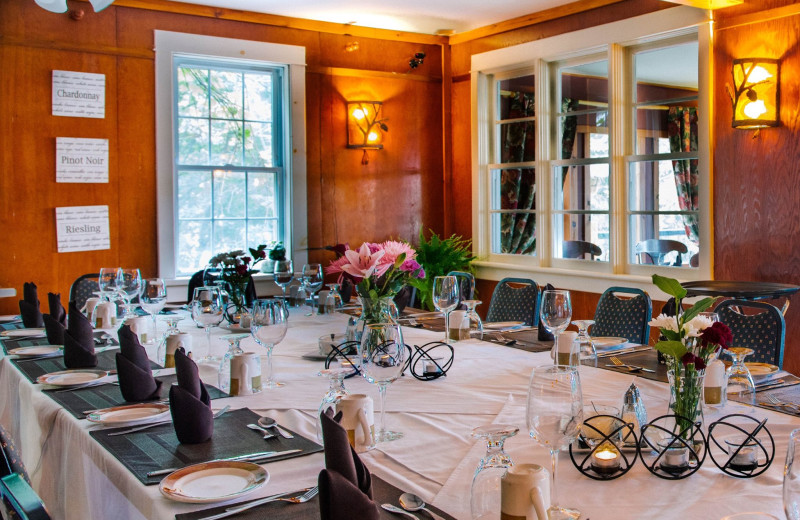 Groups and Meetings in an intimate setting at Heather Lodge with fantastic culinary meals.
