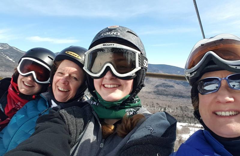 Skiing at Silver Fox Inn.