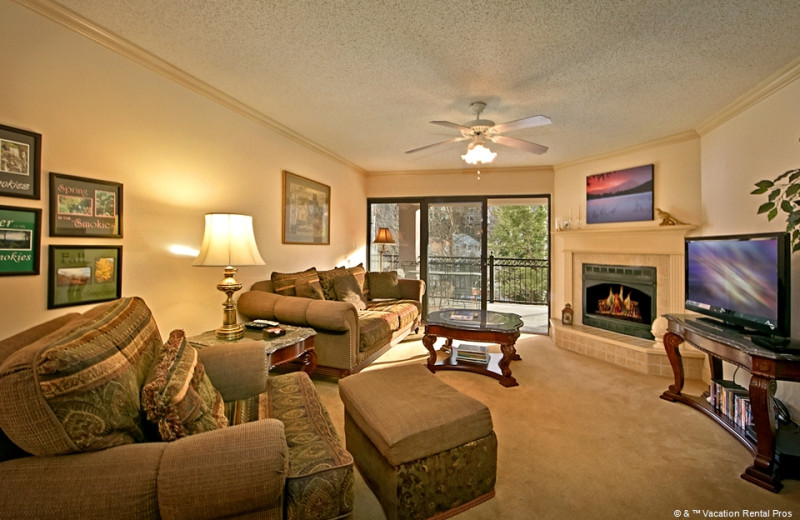 Rental living room at Vacation Rental Pros - Gatlinburg.