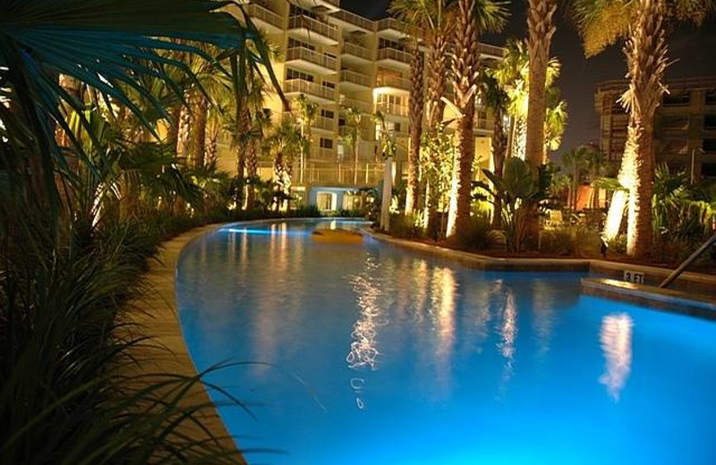 Exterior view of Destin West Beach & Bay Resort.