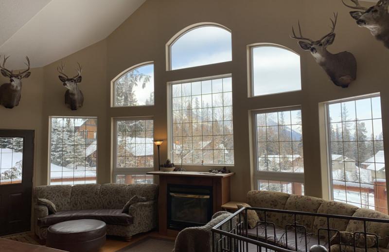 Rental living room at Fernie Central Reservations.