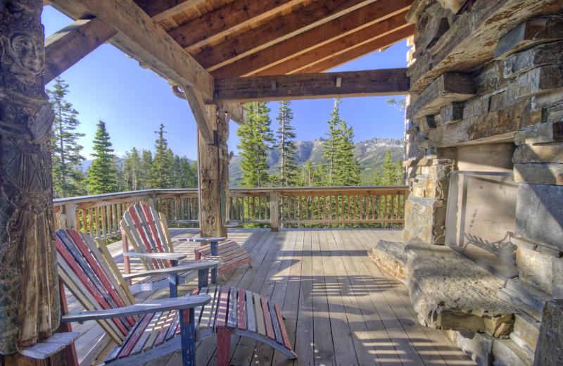 Rental deck at Big Sky Luxury Rentals.
