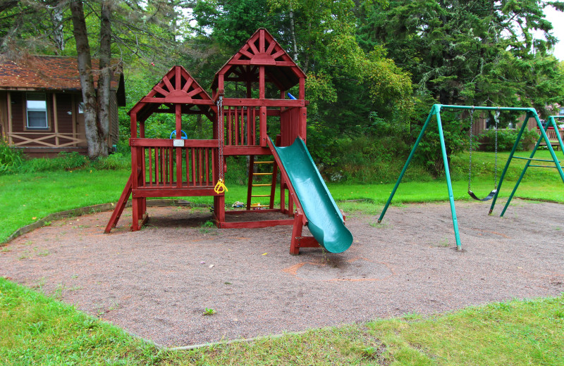 Children's playground at Cascade Lodge.