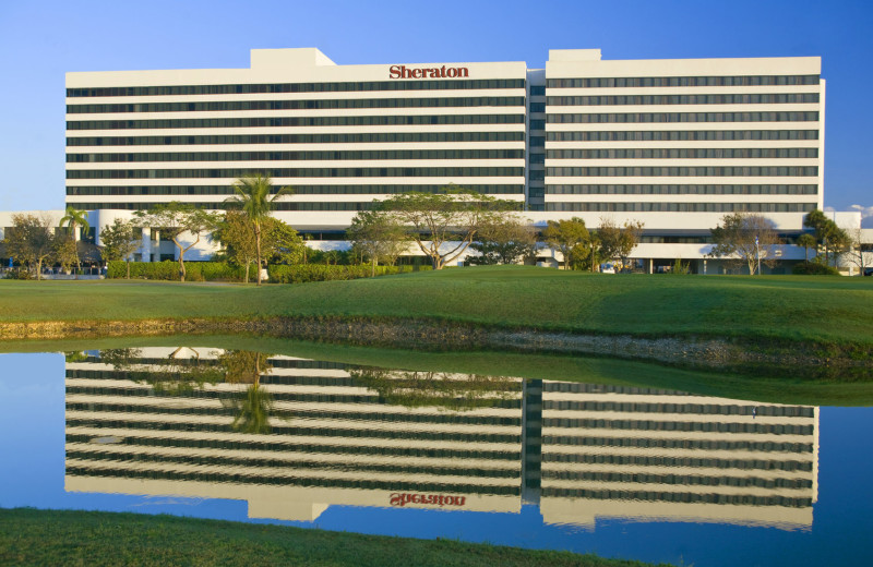 Exterior view of Sheraton Miami Airport Hotel.
